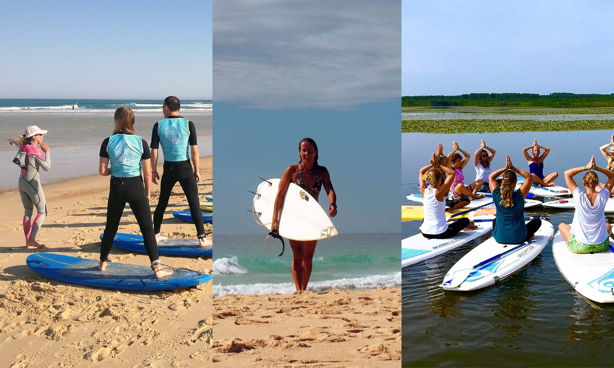 ENERGY - SURF - YOGA - PILATES : Surf School - MESSANGES - AZUR - MOLIETS - LANDES : Energy Surf School - Surf School Messanges - Surf lessons- Surf and Yoga - SUP Yoga Pilates - Hatha Yoga - Yoga class - Pilates class